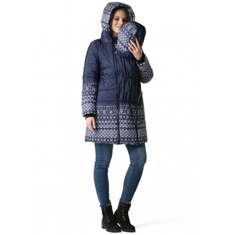 Zimná bunda ILM modrá folk