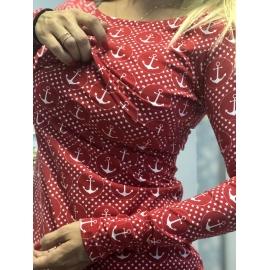 Kojo ANCHOR - red - dlhý rukáv
