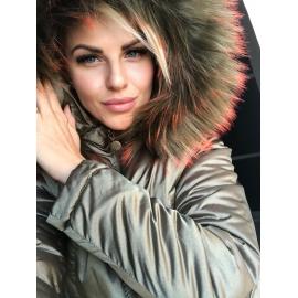 Zimná bunda ILM olivovo zlatá