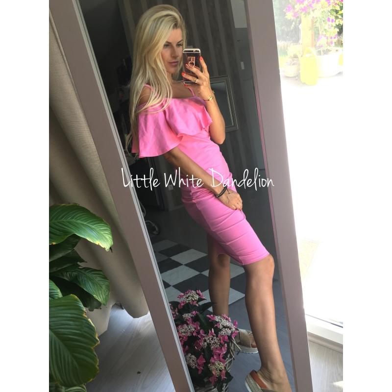 Kojo šaty s volánom ružové - ALL ... 26dad88f80a