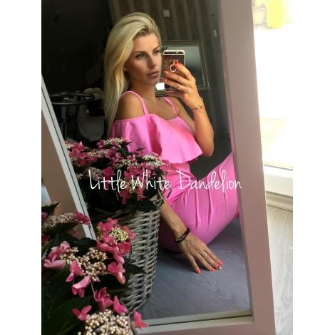 Kojo šaty s volánom ružové - ALL 703580c5885