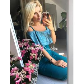 Kojo šaty s volánom ružové - ALL