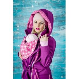 Softshellová parka fialová Dandelion